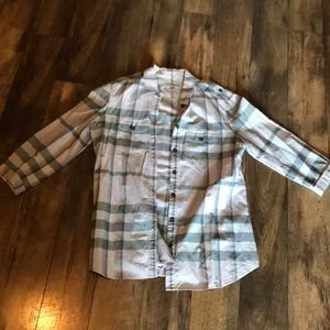 Burberry Brit Plaid Button Shirt